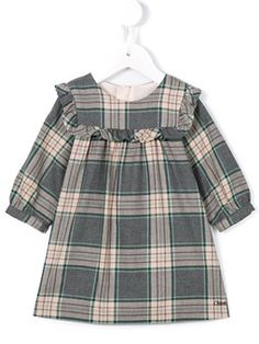 checked dress Girls Dresses Sewing, Dresses Kids Girl, Kids Outfits Girls, Girl Outfits, Cute Little Girl Dresses, Stylish Dresses For Girls, Frocks For Girls, Little Kid Fashion, Toddler Fashion