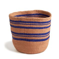 Royal-blue Striped Basket - Kenya