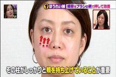 2017年4月30日,林先生が驚く初耳学で、ほうれい線は 頬骨をメイクブラシの柄で押して改善!大久保佳代子さん…