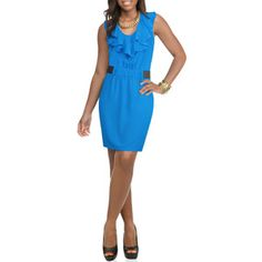 Miss Tina Women's Ruffled Elastic Waist Dress