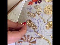 Nakış teknikleri - YouTube Hand Work Embroidery, Crewel Embroidery, Embroidery Kits, Beaded Embroidery, Embroidery Designs, Hand Work Design, Sticker Chart, Palestinian Embroidery, Joker Wallpapers