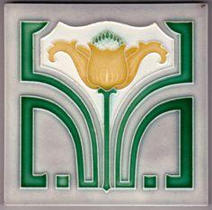 RAR! Jugendstil Fliese Kachel Art Nouveau Tile OSTERATH (OSTARA)