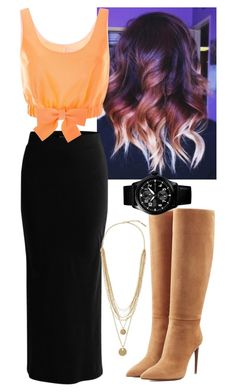 """""""Untitled #5189"""" by assexyaswesley ❤ liked on Polyvore featuring VILA, Honor, Ralph Lauren Collection and Vince Camuto"""