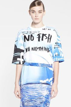 Kenzo No Fish, No Nothing Cotton Jersey Top, $350, available at Nordstrom.