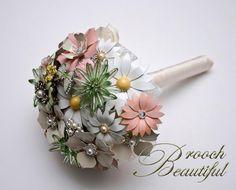 Mint to Be Brooch Bouquet Ready Made Bouquet by www.BroochBeautiful.com, $165.00