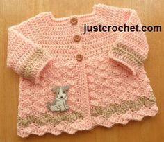 Free baby crochet pattern 0-3 month cardigan usa
