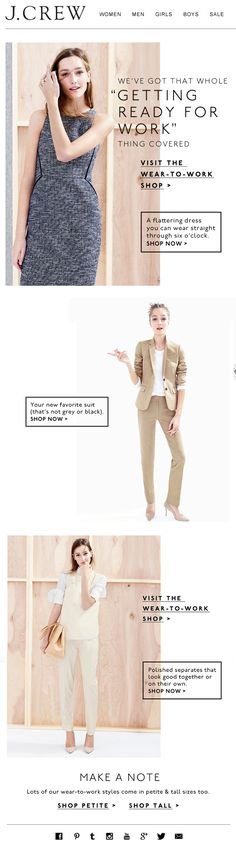 J Crew Work Outfits Email Feb 2015
