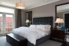 Delightful Aldine Avenue   Contemporary   Bedroom   Chicago   Michael Abrams Limited,  Mirrors Above Bedside Tables. Good Ideas