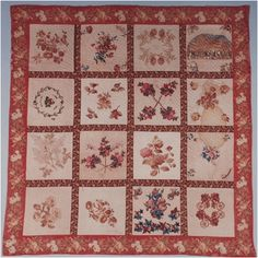 Museum of Florida History - Florida Quilt Collection, Denham Family Album Quilt 1851-1892