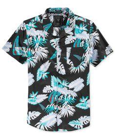 Guess Men's Tropical Floral Shirt