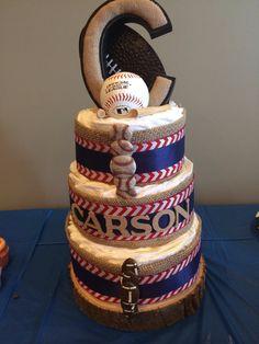 Baby boy sports diaper cake!!