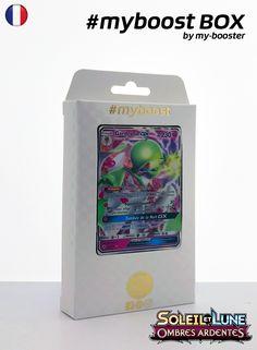 Coffret #myboost GARDEVOIR GX Contient 10 cartes Pokemon francaises Soleil et Lune 3 neuves dont : - la carte GARDEVOIR GX 93/147 230PV de la serie Soleil&Lune 3 - 1 carte Holographique ou Reverse - 1 carte 100PV - 1 carte 90PV - 1 carte 80PV my-booster, l offre POKEMON PREMIUM