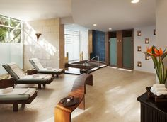 The spa at Azul Beach Resort The Fives Playa del Carmen, by Karisma, a family friendly all-inclusive resort conveniently located in Playa del Carmen Mexico.