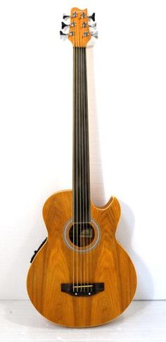 this 6 string electric sharp-cutaway acoustic fretless bass is designed and made in China by a professional instruments manufacturer, it has satin light brown finish,willow-wood body, withrosewood fingerboard, nut & bridge saddle,chrome hardware,diecast machine tuners, it comes with a trus...