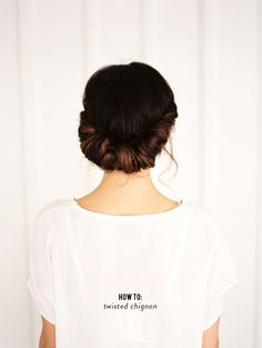 How to create a relaxed chignon updo that's perfect with jeans or a cocktail dress from Leah Anderson and A Splendid Occasion.