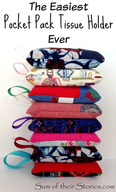 #sewing easy to make pocket pack tissue holder