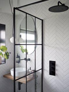 Loft Bathroom, Downstairs Bathroom, Modern Bathroom, Master Bathroom, Modern Shower, Family Bathroom, Wooden Bathroom Vanity, Modern Small Bathrooms, Tiny Bathrooms