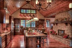 rustic kitchen cabin