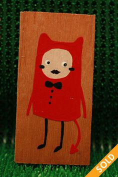 Little devil Wooden Tags, Devil, Hand Painted, Fall, Cards, Autumn, Fall Season, Demons, Maps