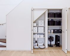 Storage Under Staircase, Wardrobe Design, Storage Room, Kid Spaces, Entrance, Stairs, House Design, Doors, Building