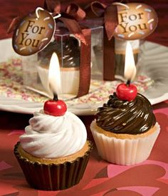 Cupcake candle - be my valentine