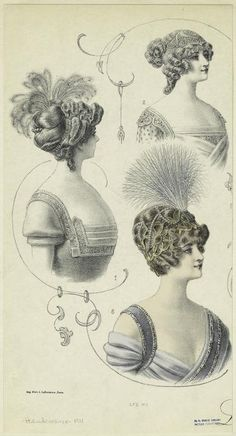 [Hairstyles for women, France, 1910s.] (1911)
