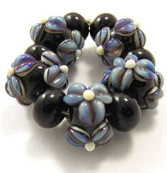 EDJ  Midnight Oasis Handmade Glass Lampwork Beads by EDJlampwork, $24.99