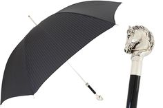 478 5973-2 W41 - Elegant Umbrella, Silver Horse Handle
