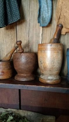 beautiful wood mortar and pestles...