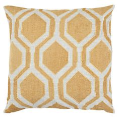 Inspired by the graphically repetitive shape of a honeycomb, our Pandora Pillow boldly defines our interpretation of a chic geometric print.