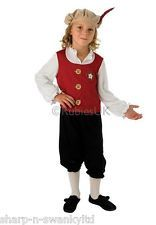 Boys Red Rich Tudor Shakespeare Historical Book Day Fancy Dress Costume Outfit