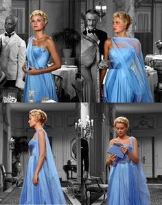 THAT blue dress on Grace Kelly in To Catch a Thief