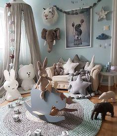 Star pillow to buy on etsy - happyspacesworkshop - kids room decor, nursery inspiration, scandinavian baby room, mint and grey nursery Star Nursery, Nursery Room, Kids Bedroom, Nursery Decor, Animal Theme Nursery, Room Kids, Toddler Room Decor, Baby Room Decor, Kids Decor