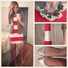 Vestido rojo-blanco
