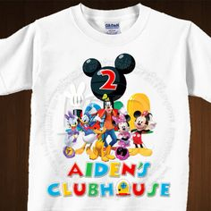 Mickey Mouse Clubhouse Birthday Shirt Image by lovebuggydesigns, $5.99