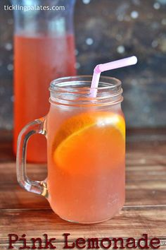 Pink Lemonade Recipe – homemade summer drink that gives the freshly squeezed lemonade a pink tinge from the macerated strawberries.