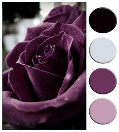 black, white, deep purple color palette decorating - Google Search