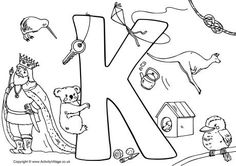 I Spy Alphabet Coloring page for each letter in the