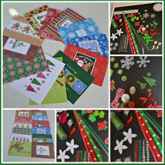 DIY Holiday Cards / Make A Card Kit / 10 by NotJustCraftSupplies, $5.95
