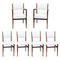 Gio Ponti Dining Chairs, manufactured by Singer & Son