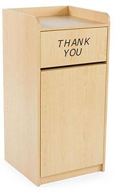 Displays2go 36 Gallon Restaurant Trash Can with Hinged Door, Tray Holder with Thank You Message (LCKDPZTRMP) Displays2go http://www.amazon.com/dp/B00SA2YMFY/ref=cm_sw_r_pi_dp_7hRlwb061X55P