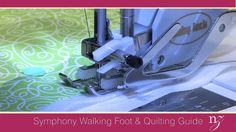 SCROLL DOWN AND SEE THE VIDEO TUTORIAL Details on how to get started quilting includes suggestions to practice. It doesn't take much practice to get comfortable using your walking foot. Nancy covers stippling,  free motion quilting, and echo stitching. Change your foot to a free motion foot. This gets you started with the feeling of …