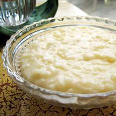 Gâteau de riz crémeux !! j'adore le riz au lait