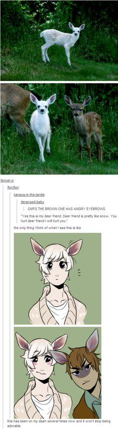 Angry Eyebrows Deer | Gijinka (擬人化) / Humanization | Know Your Meme