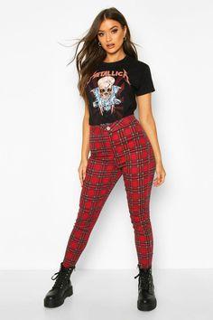 Pantalon Tartan, Mom Jeans, Skinny Jeans, Indie Hipster, Boyfriend Style, Boohoo, Flannel, Style Me, Internet