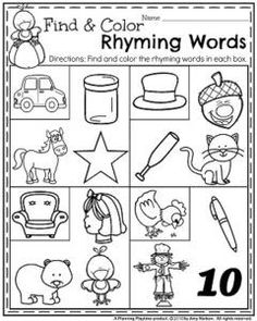 January Preschool Worksheets | Rhyming words, Worksheets and January
