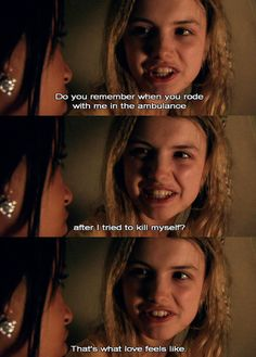 Cassie and Jal. Cassie was so sad and fragile throughout the entire storyline, but she never saw how many people truly cared about her. I wonder how many people are just like that in the world Cassie Skins, Best Tv Shows, Best Shows Ever, Favorite Tv Shows, Favorite Things, Jack White, Skins Uk Quotes, Kathryn Prescott, Hannah Murray