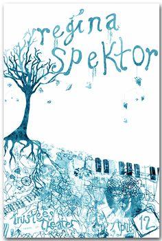 Concert Poster - Regina Spektor - BlueTree    Concert poster / gig poster / music / show poster / illustration / screen print / graphic design