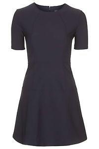 Brand NEW Topshop Navy Seamless Skater Dress RRP £38 Size 8 | eBay