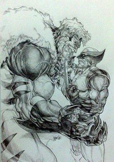 Wolverine vs Sabretooth by Grandizer05